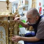 Restaurando en el taller de Dromos