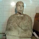 Estado del busto antes de la restauración.