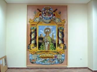 Mosaico después de la restauración.