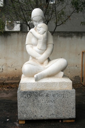 Escultura después de la restauración.
