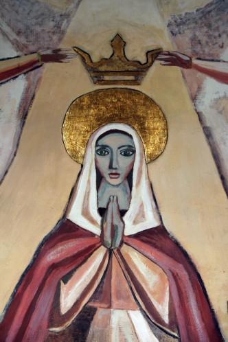 Detalle de la Virgen después de la restauración.