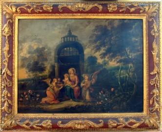 Estado de la pintura antes de la restauración.